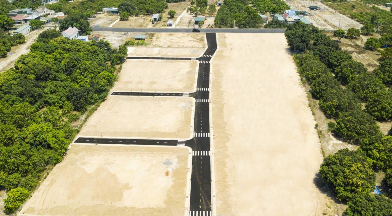 Hình ảnh dự án KDC đường Đinh Tiên Hoàng từ flycam