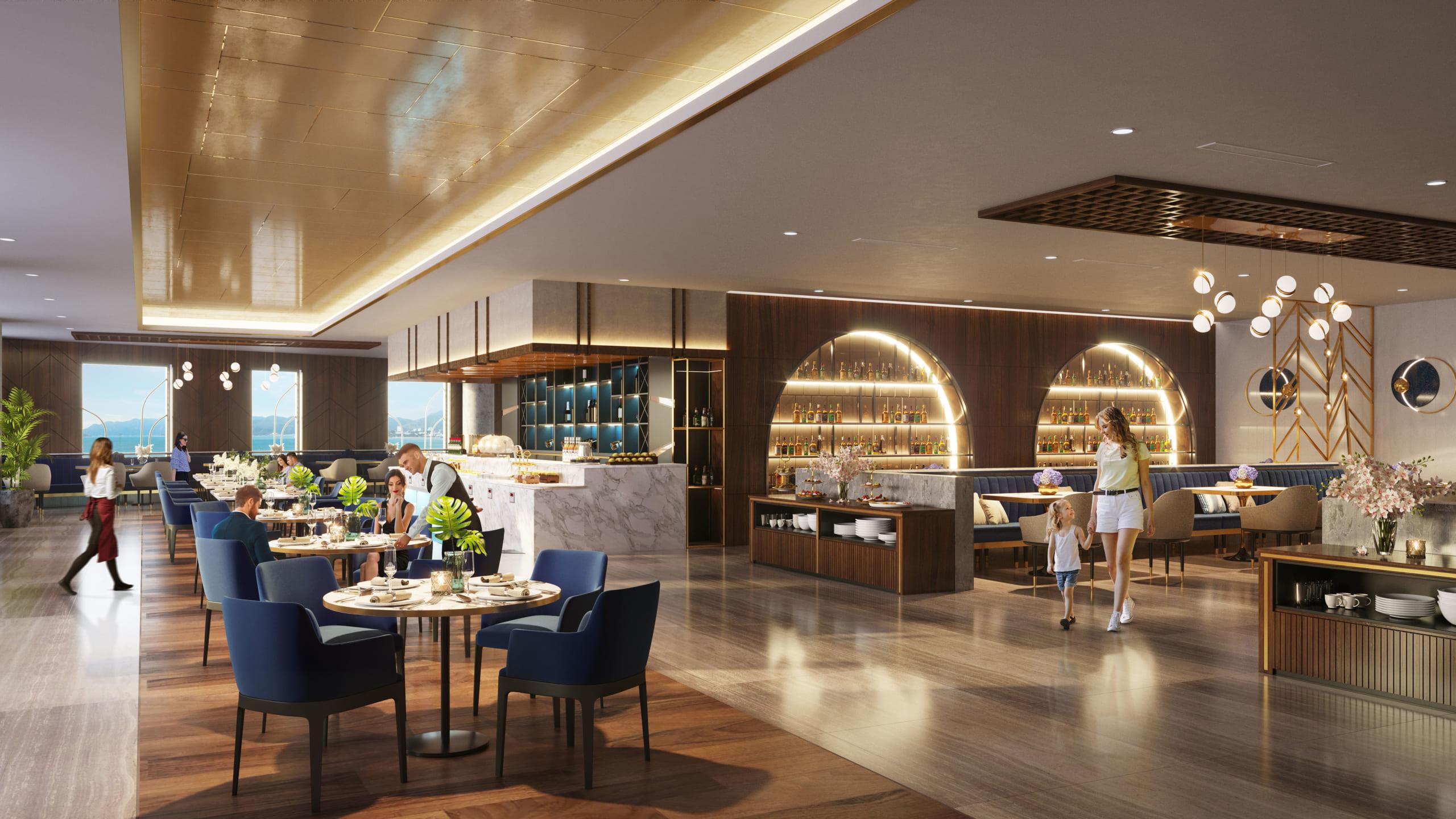 Nhà hàng sang trọng nằm trong dự án
