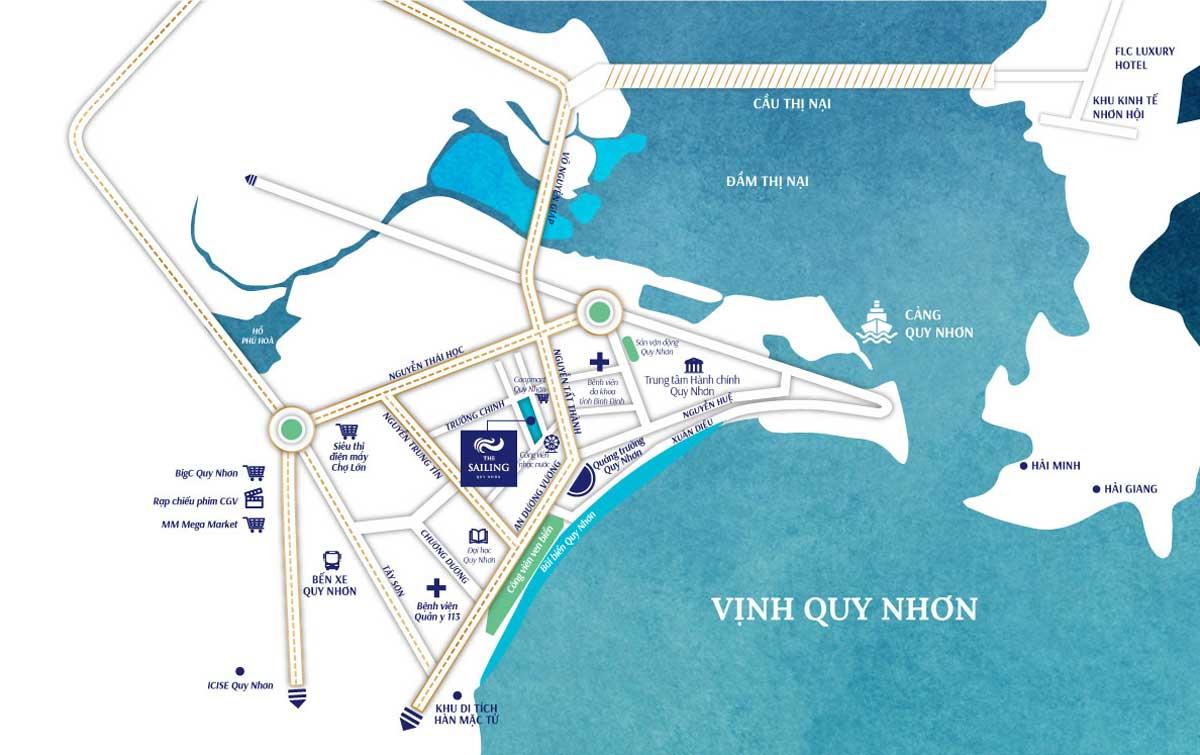 Vị trí độc tôn của Wyndham Sailing Bay Resort Quy Nhơn